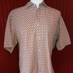 Thomas Dean Cotton Button Shirt L